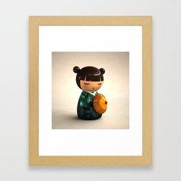 Kokeshi 01 Framed Art Print