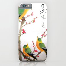 green bird chatting iPhone 6s Slim Case