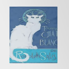 Le Chat Blanc Throw Blanket