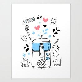 Dental hygiene Art Print