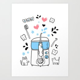 Dental hygiene Art Print