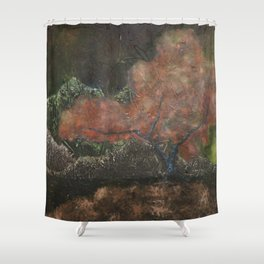 Surreal Impression of Japanese Maple Tree Shower Curtain
