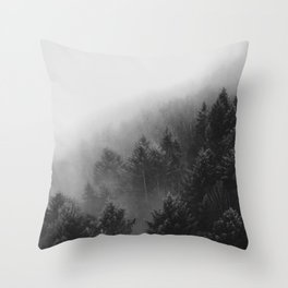 Misty Forest II Throw Pillow