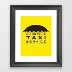 umbrella taxi service Framed Art Print