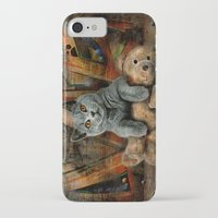 kpop iPhone & iPod Cases featuring Cat Diesel with teddybear ! by teddynash