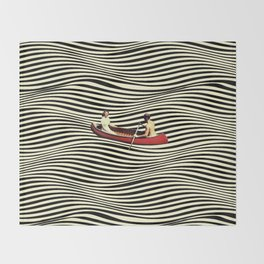Illusionary Boat Ride Throw Blanket
