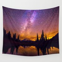 milky way Wall Tapestries featuring Milky Way by EclipseLio