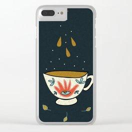 Tea cup magic Clear iPhone Case