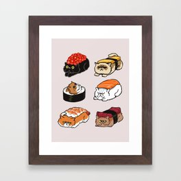 Sushi Persian Cat Framed Art Print