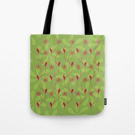 Flowerline – green Tote Bag