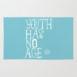 Youth Has No Age (Blue) Rug