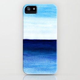 Blue & blue iPhone Case