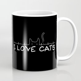 I Love Cats Coffee Mug