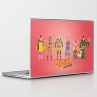 dungeons and dragons Laptop & iPad Skins featuring Dungeons and Dragons - Pixel Nostalgia by Boo! Studio