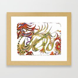 A Dragon Tale For Jaxson Framed Art Print