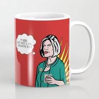 lichtenstein Mugs featuring Malory Archer Lichtenstein by tmwt