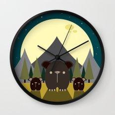Beary Nice Night Wall Clock