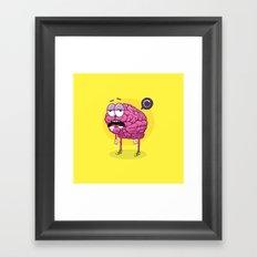 Brain Loading Framed Art Print