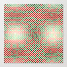 Christmas Multicolored Pattern Canvas Print