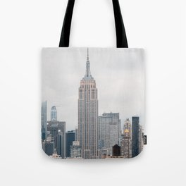 Empire State Building in grey Tote Bag