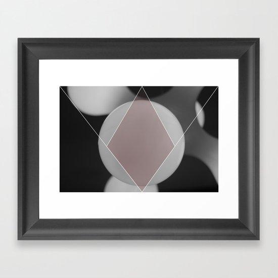 COLOUR DIAMONDS B&W (RED) Framed Art Print