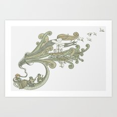 Wayfaring Waltz Art Print