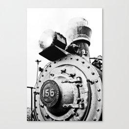 Train Black Canvas Print