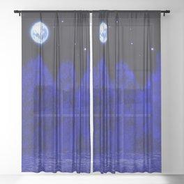 Full moon Sheer Curtain