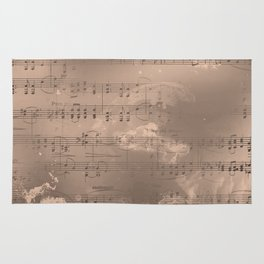 Sheet Music - Mixed Media Partiture #2 Rug