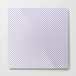 Violet Tulip Polka Dots Metal Print