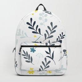 Floral Pattern1 -Blue Backpack