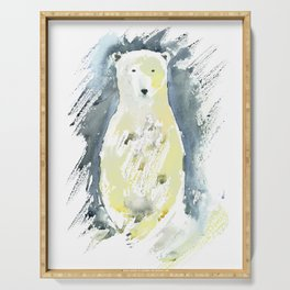 Polar bear. Serving Tray