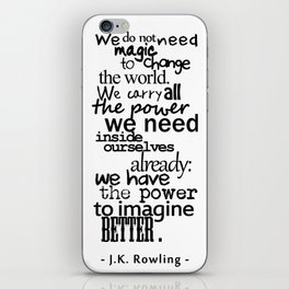 The power of imagination iPhone Skin