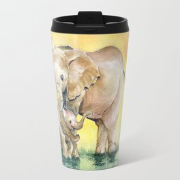 Colorful Mother's Love - Elephant Travel Mug