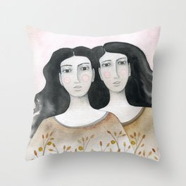 Sisters Throw Pillow