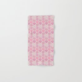 Pink Heart Valentine's Doilies Pattern Hand & Bath Towel