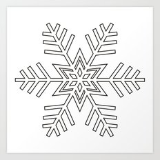 Snowflake | Black and White Art Print