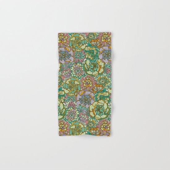 Blooming Succulents Hand & Bath Towel