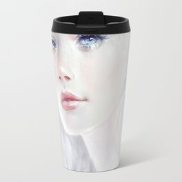 Ethereal - White as ice beatiful girl portrait Travel Mug