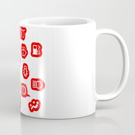 Vehicle Dash Warning Symbols Coffee Mug