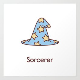 Cute Dungeons and Dragons Sorcerer class Art Print