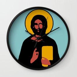 Christus Vector Blue Wall Clock