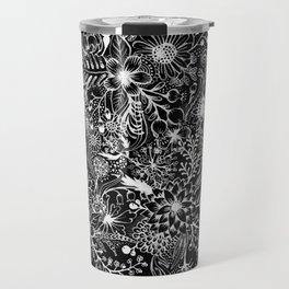 Flowers in White Travel Mug