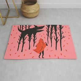 She persists - Wood Cut Art Work Rug