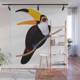 Exotic toucan. Vector graphic character Wall Mural