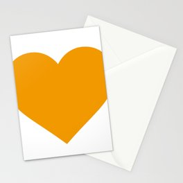 Heart (Orange & White) Stationery Cards