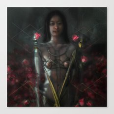 rose and chain Canvas Print