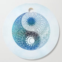 moon and sung (blue) Cutting Board