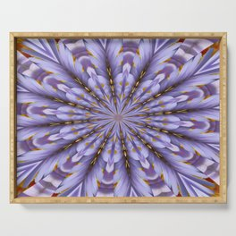 Lilac Kaleidoscope Serving Tray