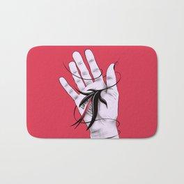 Disturbing Itch - Evil Monster Bites Hand Bath Mat